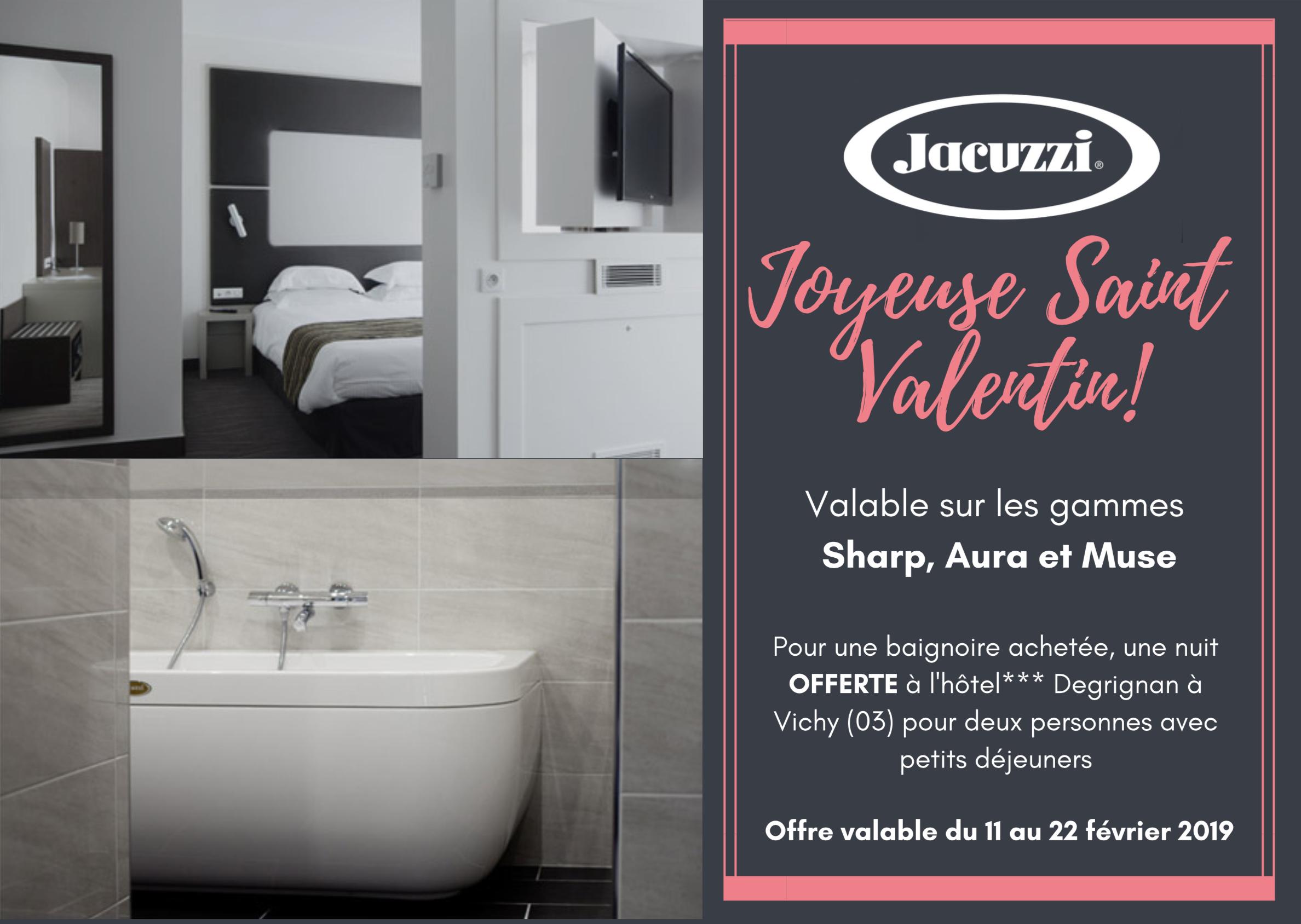 Offre Jacuzzi – Saint Valentin